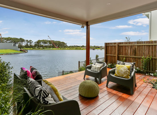 UNDER CONTRACT Beautiful new, north west facing waterfront home, with a host of stunning features.